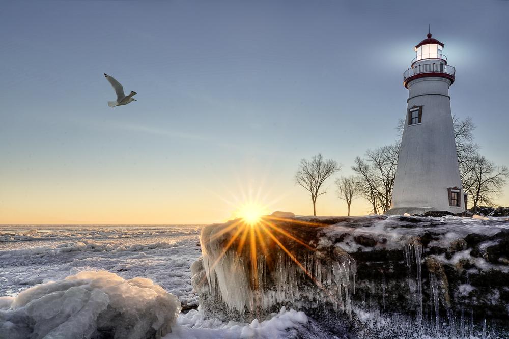 leuchtturm an der see