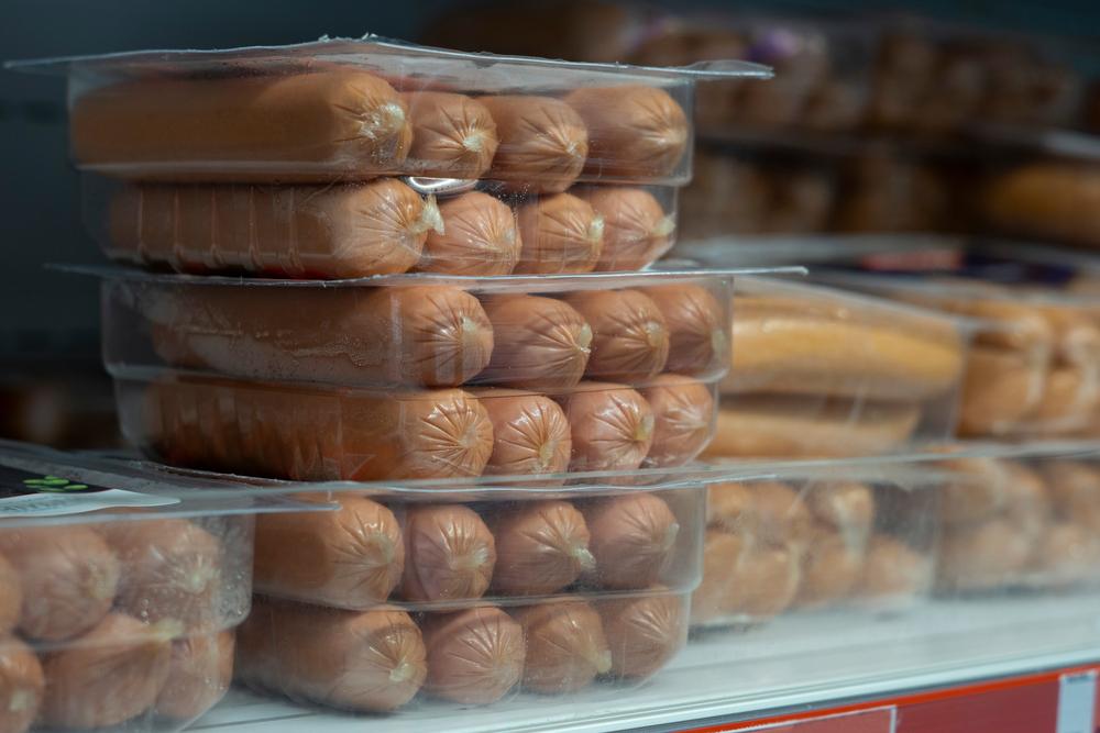 eingefrorene bockwurst