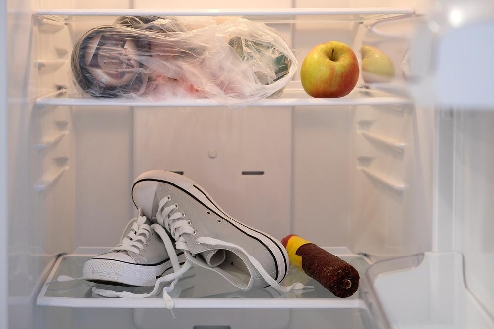 schuhe im kühlschrank